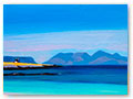 title: VIEW TO EIGG AND RUM. size:21x26cm. £750
